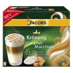 Kaffeepas, Krönung Kaffeepads, Jacobs Latte Macchiato, Latte Macchiato Caramel, Karamel Kaffeepads, Pads mit Aroma, Aromapads, Kaffeepads, Krönung, Verwöhnaroma, Jacobs Krönung,